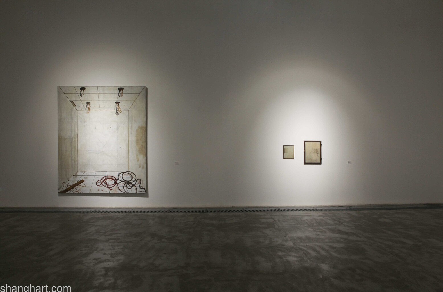Left: Zhang Enli | Unfinished Space 1, Right: Geng Jianyi | Invisible
